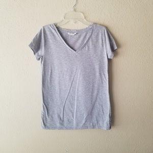 Gray/Silver V Neck TShirt